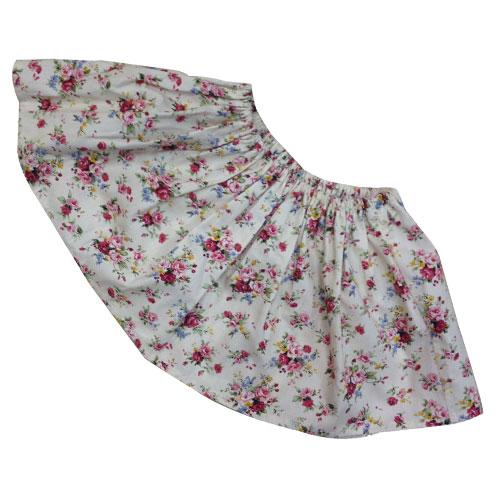 Falda de castañera flores