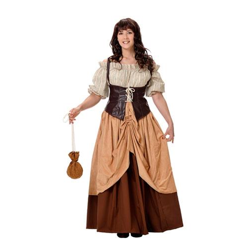 Disfraz de hortelana medieval